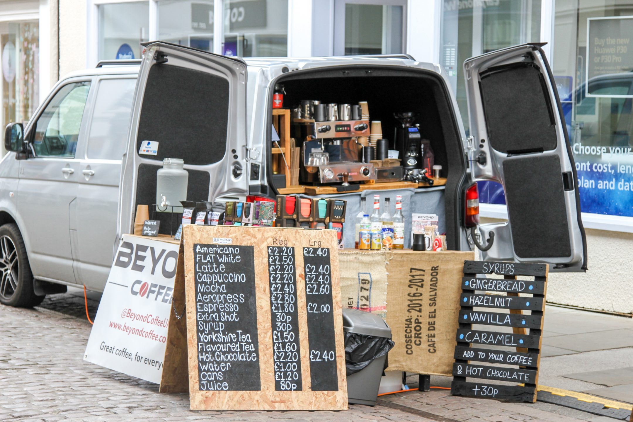 Vehicle, mobile, coffee, van, beyondcoffee